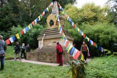 Geshe Tashi visiting the Stupa at Harewood House