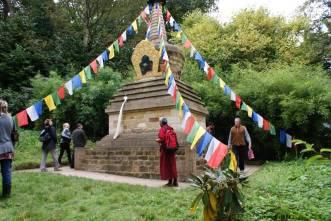 Geshe Tashi visiting the Stupa at Harewood House